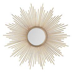 Maisons du Monde Specchio dorato in metallo H 99 cm MAGELLAN