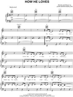 "David Crowder Band ""How He Loves"" Sheet Music - Download & Print"