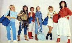 Back To The 80's, Girl Bands, 80s Fashion, Kimono Top, Cover Up, Dots, Costumes, Cartoon, Celebrities