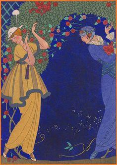 George Barbier, Roses dans la Nuit, 1914