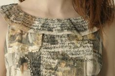 Narrative Dress -tells the story of my Mother and Fathers relationship. -a comically dysfunctional but undeniably charming romance. -potential for an embroidered Alice Book. -Embroidery, Aplique, and Image transfer. Embroidery Fashion, Embroidery Art, Machine Embroidery, A Level Textiles, Textiles Techniques, Altered Couture, Fabric Manipulation, Mother And Father, Fabric Art