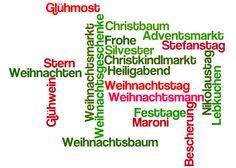 Christmas Vocabulary — Weihnachtswortschatz