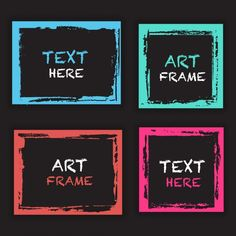 Grunge frame template collection | Free Vector #Freepik #freevector #background #abstract-background #frame #watercolor Frame Wall Collage, Frames On Wall, Framed Art, Grunge, Frame Template, Templates, Text Frame, Frame Background, Vector Background