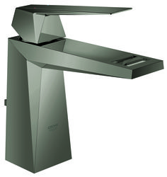 Crisp and precise geometry is the base for GROHE's Allure Brilliant bathroom faucets and showers - now also available in contemporary Hard Graphite finish in polished black chrome #taps #bathroom #chrome #graphite #GROHE http://www.grohe.com/ie/4803/bathroom/tap-mixer/allure-brilliant/