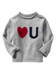 Intarsia love you sweater | Gap