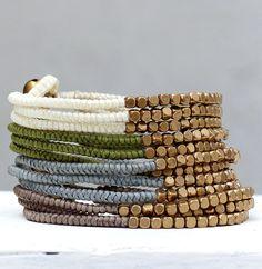 Pur und schön - 3 fach Armband - in 4 Farben von Traumkontor auf DaWanda.com