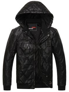 Leather Jacket with Removable Hood - Save Up to 70% Off on fabulous fashion trend products at Milano with Coupon and Promo Codes.