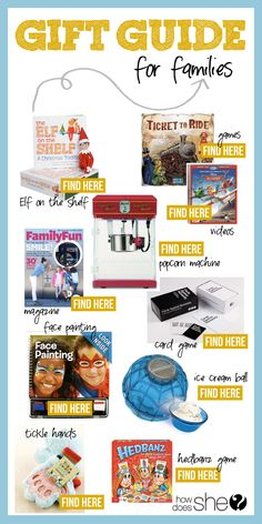 Over 100 Gift Ideas for Everyone on You List! // Gift Guide for Families #howdoesshe