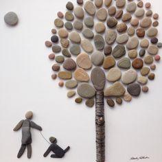 #walkwithmydog #dog #dogtime #stoneart #art #artist #artistlivingforlove #artwork #meandmydog #mylifetree #treeoflife #