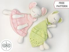 Crochet Lovey Free Pattern, Crochet Amigurumi Free Patterns, Crochet Stitches Patterns, Crochet Toys, Crochet Baby, Free Crochet, Stuffed Animal Patterns, Baby Knitting, Amigurumi Toys