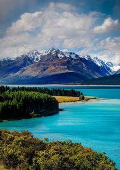 Lago Pukaki, Nueva Zelanda.