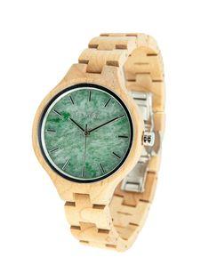 Holzuhr Immergrün Ahorn 36mm silber   Uhren   Accessoires   Frauen   muso koroni Wood Watch, Watches, Gold, Koroni, Style, Products, Fashion, Silver, Accessories