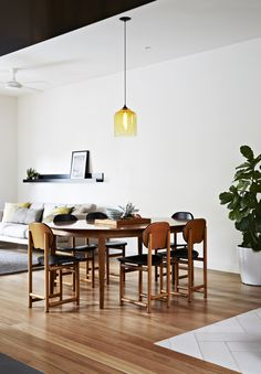 Doherty Design Studio's Camberwell Residence Living and Dining. Photographer: Armelle Habib