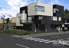 "Вилла ""Тетрис"": архитектура, 2 эт | 6м, жилье, модернизм, 200 - 300 м2, фасад…"