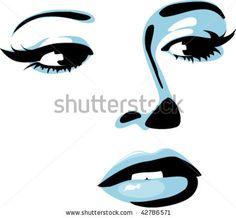 stock vector : Girl face