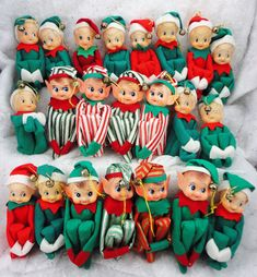 22 Vintage Japan Christmas Knee Huggers w/bells Pixies Elves NEW ??? Ornaments | eBay