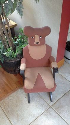 Children's Teddy Bear Rocking Chair 1969 Vintage Ralph Morris Associate Factory- Mine was red and white. I loved it and it was so well built. It lasted for years.