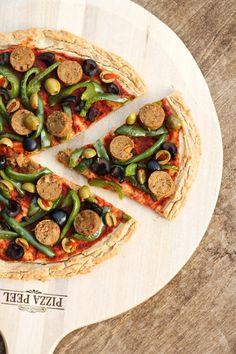 Gluten-free Vegan Potato Pizza Crust! Unconventional, but so delicious!! Done in just 4 steps! via @thevegan8