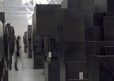 Antony Gormley occupies French gallery with monumental metal sculptures - Dezeen