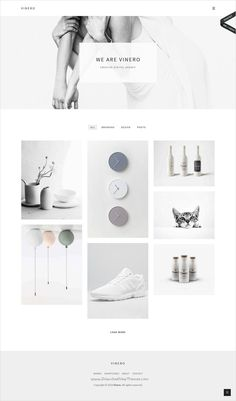 Vinero Very Clean and Minimal Portfolio WordPress Theme - Wordpress Ecommerce Theme - Vinero is a wonderful focused on minimalism elegance and simplicity with masonry portfolio grid website Website Design Inspiration, Website Design Layout, Wordpress Website Design, Design Blog, Web Layout, Layout Design, Design Design, Website Designs, Graphic Design