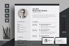 Resume/cv by ThemeDevisers on @Graphicsauthor