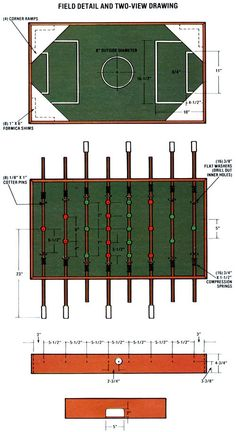 You don't have to let the winter doldrums get you down. Instead, why not invest a weekend's workshop time and a little bit of cash and get ready to kick up your heels with fun foosball. Woodworking Jigs, Woodworking Projects, Wood Projects, Table Football, House Games, Little Bit, Backyard Games, Table Games, Wood Toys
