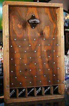 DIY Drinko Plinko. Everyone needs this for their home bar.