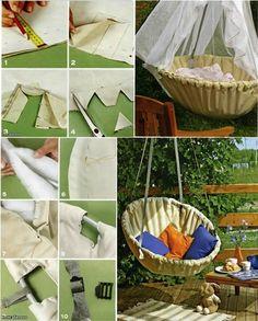 DIY Fabric Hammock Chair   www.FabArtDIY.com