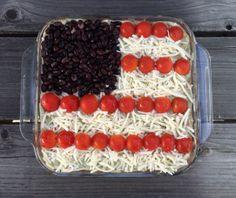 Patriotic 7-Layer Dip
