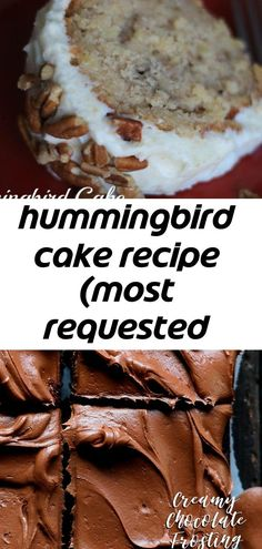 Hummingbird Cake Recipe (Most Requested Recipe at Southern Living) If you are looking for a UNIQUE recipe that packs a chocolate punch, this is the recipe for you! Moist and Fluffy Vanilla Cake! Such a soft, tender cake! Perfect Chocolate Cake, Chocolate Frosting, Baking Chocolate, Humingbird Cake Recipe, Old Fashioned Chocolate Cake, Hummingbird Cake, I Am Baker, Cake Toppings, Unique Recipes