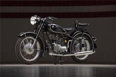 """New for 1953, the BMW R25/3 differed from other BMW motorcycles in that power came from a vertically oriented single cylinder 250-cc engine, BMW's first """"thu... $68,500"""