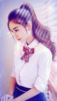 {BTS Jungkook FF} ✔️ by bad_charae (C. Cute Manga Girl, Cute Girl Drawing, Cute Cartoon Girl, Cute Girl Pic, Anime Art Girl, Cute Girls, Beautiful Fantasy Art, Beautiful Anime Girl, Beautiful Asian Girls