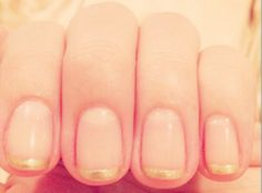 Gold-Tipped French Manicure