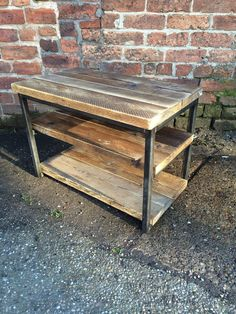Industrial Chic Reclaimed Tv Stand Media Centre Coffee Table. Made from reclaimed timber and heavy duty steel The grain and look of the wood is TV BENCH £149