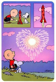 Snoopy fireworks -- Independence Day