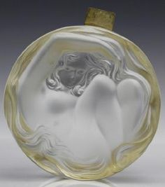 Art Deco Lalique France Nude Daphne Crystal Dresser Box