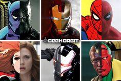 Team Iron Man Comic vs film