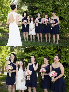 Bridesmaids First Look | Anna Kerns Photography | #bridereveal #firstlook #bridesmaids #love #beautiful #bride http://www.mybigdaycompany.com/weddings.html