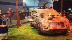 #Hyundai Zombie Survival Machines at the 2014 #ChicagoAutoShow #TheWalkingDead