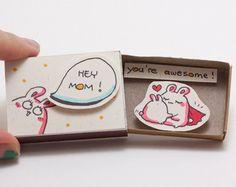Cute Love Card/ 3D Card/ Matchbox / Handmade pop up by shop3xu