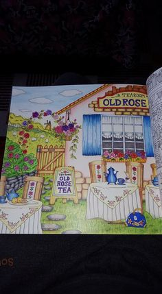 Old Rose Tearoom Romantic Country by toothpick artist, Eriy