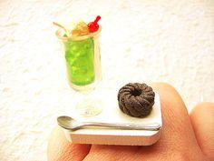 Kawaii Miniature Food Ring Soda Float Chocolate by SouZouCreations, $12.50