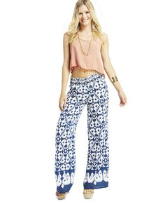 Smocked Waist Wide Leg Pants Available size: M, XL Acl Festival, Wet Seal, Latest Fashion Clothes, Wide Leg Pants, Smocking, Pajama Pants, Classy, Best Deals, How To Wear