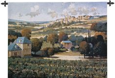 Vineyards of Provence Tapestry. Landscapes and Large Wall Tapestries. The Vineyards of Provence Tapestry shows the picturesque view of Provence, France which is picture perfect in it's charm and fond memories. If you have never been, it's a wonderful place to visit.