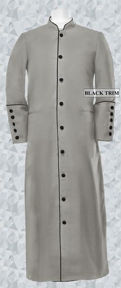 UK Men Pastors Robes Autumn Fashion Church Clergy Robe Long Sleeve Cross Print