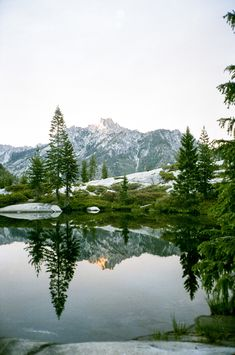 Sunset at Boulder Creek Lake by Taylor McCutchan
