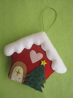 Casinha de Natal feltro - molde