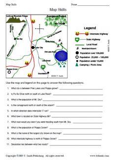 Snapshot image of Map Skills Worksheet 2