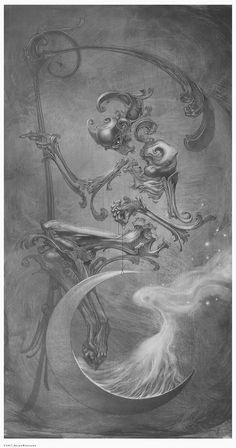 Allen Williams Art Occultation, Graphite and oil on board. Signed and numbered, limited edition prints available at booth at SDCC. Arte Horror, Horror Art, Dark Fantasy Art, Dark Art, Art Sketches, Art Drawings, Allen Williams, Demon Art, Goth Art