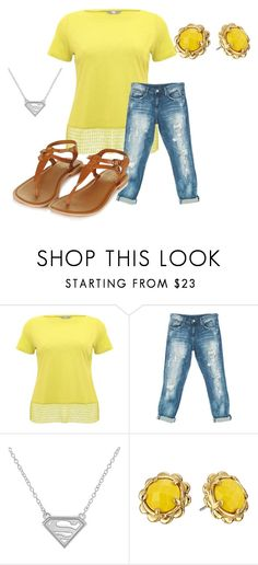 """Yellow"" by air-bear-disigns on Polyvore featuring M&Co, Sans Souci and Kate Spade"